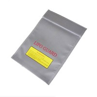 RC LiPo Lithium Polymer Battery Safety Bag Safe Guard Charge Sack 23cm*18cm Silver