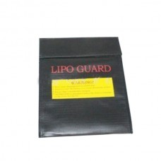 RC LiPo Lithium Polymer Battery Safety Bag Safe Guard Charge Sack 23cm*18cm Black