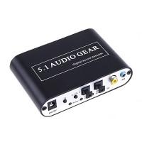 DTS/AC-3 Digital Audio Gear Sound Decoder Output 3X3.5mm Jack HD51-A