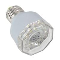 AL201 E27 3W 23 LED White Light Sound Activated Automatic Lamp -Silver