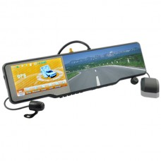 Touchscreen Complete Car Bluetooth Rearview Mirror Kit with GPS DVR and Wireless Camera
