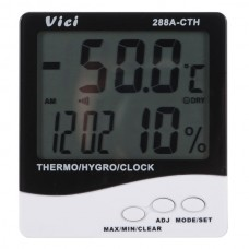 288A-CTH Digital Thermo-Hygrometer Indoor Humidity Thermometer with Calendar and Clock