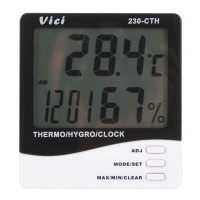 3 in 1 230-CTH Digital Indoor Thermometer Hygrometer with Clock and Calendar