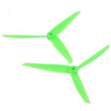 1 Pair Gemfan 7035 7035R 3-blade Rotating Reversed Propeller CCW CW Multi Rotor-Green