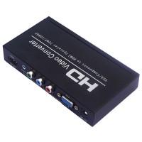 VGA + YPbPr Component to HDMI Converter 1080P Scaler Box HDV-336