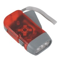 Hand-Pressing Flashlight Battery Free Torch with Electricity Generate Function-Red
