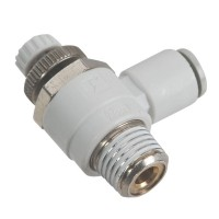 SMC AS2201F-02-06S Penumatics Fitting Air Flow Control Valve with Push-to-Connect Fitting 10-Pack
