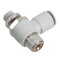 SMC AS2201F-02-08S Penumatics Fitting Air Flow Control Valve with Push-to-Connect Fitting 10-Pack