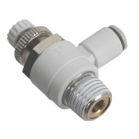 SMC AS2201F-02-04S Penumatics Fitting Air Flow Control Valve with Push-to-Connect Fitting 10-Pack