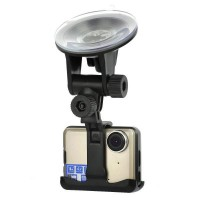 "2.0"" TFT LCD 5.0MP COMS Car DVR Camcorder with TF / Mini HDMI - Champagne"