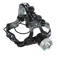 5W CREE Q5 LED Headlamp Flashlight Bike Light+Battery Charger+2 Batteries