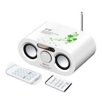 IBox HIFI Digital Louderspeaker FM Loud Speaker with SD Card Slot LCD Display+4 GB Card