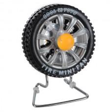 Portable USB Tire Fan Mini USB Tire Fan Rechargeable Wheel Fan-Black