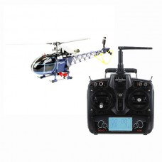 Walkera 3-axis Flybarless 4F200LM RC Helicopter Blue with DEVO7 DEVO-7 Radio Transmitter