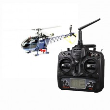 Walkera 3-axis Flybarless 4F200LM RC Helicopter Blue with DEVO10 DEVO-10 Radio Transmitter