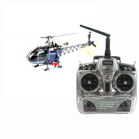 Walkera 3-axis Flybarless 4F200LM RC Helicopter Blue with WK2603 Radio Transmitter