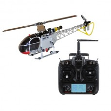 Walkera 3-axis Flybarless 4F200LM RC Helicopter Silver with DEVO7 DEVO-7 Radio Transmitter