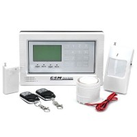 TouchScreen LCD Intelligent Auto-Dial GSM Security Alarm Set Quad-Band