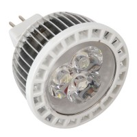 GU10 Base 3W 3 LEDs White Led Lamp Spot Light 270-300lm Bulb
