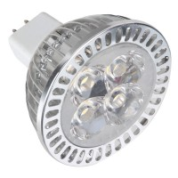 MR16 4W 4-LED 6500K 300-Lumen Light Bulb - White (12V)