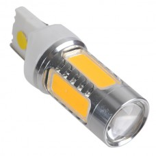 T20 9V-30V High Power 7.5W LED Backup Reverse Light with Optical Glass Convex lens -Yellow