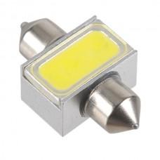 White Dual Tip Car LED Reading Light Rear Trunk Lights 1.5W 12V 31mm