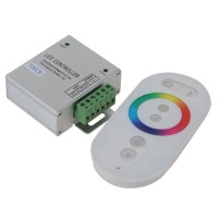 RF Wireless Touching Remote Controller For LED RGB Strip 12V/24V RGB Controller-White