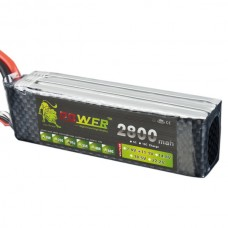 High Power LION  Power 11.1V 2800M 30C Rechargeable Polymer Lithium Battery