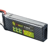 High Power LION 11.1V 1300mAh 25C Rechargeable Polymer Lithium Battery