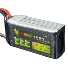 High Power LION  Power 11.1V 1500M 40C Rechargeable Polymer Lithium Battery