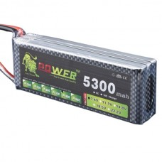 High Power LION 7.4V 5300M 40C Rechargeable Polymer Lithium Battery