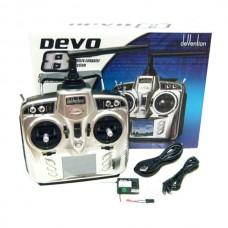 Walkera 8ch Radio Transmitter DEVO8 Touch Screen + Receiver RX801