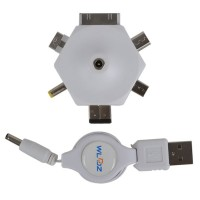 6-in-1 Multi Connector Kit for iphone Nokia Sony Ericsson Samsung W-6