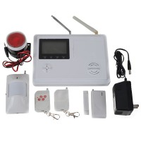 Wireless/Wired Burglar Intrude Alarm System GSM/PSTN Triple Bands 103 Zones