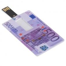 Euro Cash Design Credit Card Sized USB Flash Driver -16GB