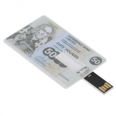 Pounds Cash Design Credit Card Sized USB Flash Driver -16GB