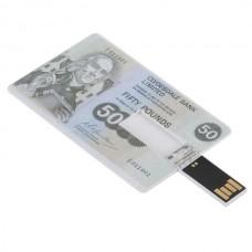 Pounds Cash Design Credit Card Sized USB Flash Driver -16GB