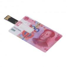 RMB Cash Credit Card Sized USB Flash Driver -4GB
