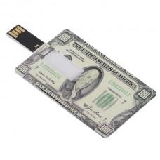 America Cash Credit Card Sized USB Flash Driver -2GB