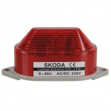 Skoda Marning Signal Light LED Revoiving Steady Lamp 220VAC Red