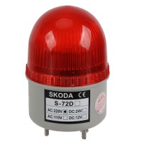 Skoda Marning Signal Light LED Bulb Flashing Singnal Light with Buzzer 220VAC