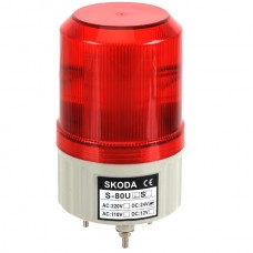 Skoda Marning Signal Light LED Rotation Steady Light with Buzzer 24VDC Red
