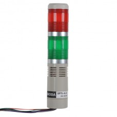 Skoda LED Bulb Flashing Indicator Tower Rod Series with Beep STP5-24VDC Red+Green