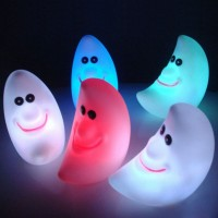 5PCS  LED Change Colors Night Light Magic Energy Novelty Lamp Moon Baby Shape