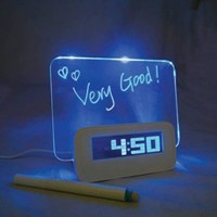 High Star Plastic Frame Glowing LED Message Writing Board with Alarm