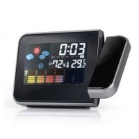 Digital Weather Humidity Thermometer Projection Multi-function Alarm Clock