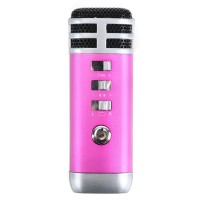 Mini Karaoke Player Ising for Laptop Mobile Phone Mp3 Mp4-Pink