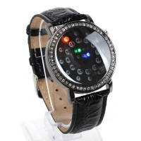 Fashion Digital Blue LED Light Time Date Week Rubber Band Wrist Watch Gift