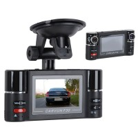 Dual-lens 180Degree 5.0 Mega Pixel Mini Car Black Box Video DVR Camcoder Recorder