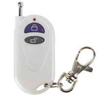 Universal Wireless 2 Buttons Plastic Remote Controller with Lock Function- Milk White